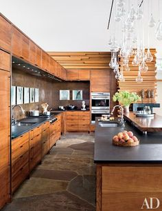 modern mountain home kitchen - rustic, yet elegant