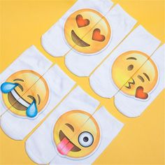 Feitong Funny Emoji Happy Socks Women With Print Low Cut Ankle Spring Summer Breathable Women's Smiley 3d Socks calcetines diver #Affiliate