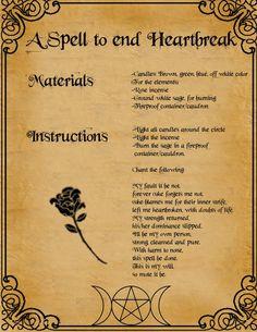 A spell to end heart break