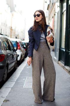 Oversized pantalones.