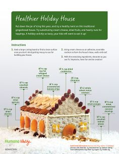 """Kids will love building (and eating!) this healthier holiday house. Use whipped cream cheese as """"glue""""."""
