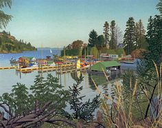 Genoa Bay EJ Huges Small Paintings, Paintings I Love, Genoa, Canadian Artists, Outdoor Art, Vancouver Island, Ms Gs, British Columbia, Landscape