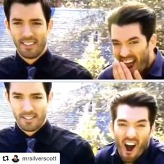 """2,409 Likes, 25 Comments - Property Brothers  (@propertybrothers) on Instagram: """"Do these silly #PropertyBrothers snapshots have you lol'ing!?  Join the fun and capture your own!…"""""""