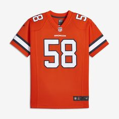 Nike NFL Color Rush (NFL Broncos   Von Miller) Big Kids  Jersey Size XL  (Orange) af3a89627
