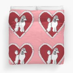 Poodle Love Duvet Cover (sizes Twin, Queen, or King) by Abigail Davidson at Redbubble