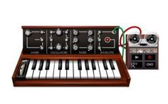 In celebration of Robert Moog's 78th birthday, Google has created an epic Google Doodle to honor the electronic music pioneer.    The Doodle, which is scheduled for Wednesday but already visible
