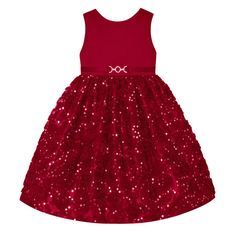 Girls 7-16 & Plus Size American Princess Sequin Soutache Skirt Dress, Size: 16 1/2, Med Red