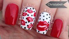 ChristabellNails Valentine's Lips Nail Art Tutorial