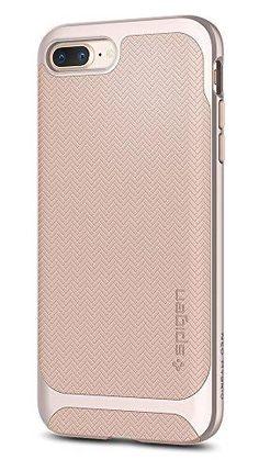 1c0d845db6fa96 Spigen Neo Hybrid Herringbone iPhone 8 Plus Case   iPhone 7 Plus Case with  Hard Bumper Frame for Apple iPhone 8 Plus (2017)   iPhone 7 Plus (2016) -  Pale ...