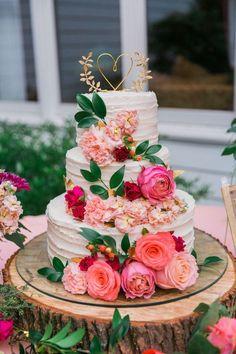 Midsummer Nights Dream Wedding Cake | Beautiful Floral Design
