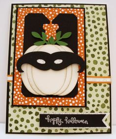 Halloween Pumpkin with Moustache Mask by eured99 - Cards and Paper Crafts at Splitcoaststampers