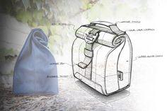 New Fall 2014 sneak Peak #waxedCanvas #lunchbag #productsketching #jbirdcollective #productdesign