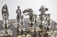 don Quijote chess set / Wooden chess board 36X36 от CraftsAndMetal
