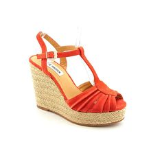Steve Madden Mammbow Womens Size 10 Orange Suede Wedge Sandals Shoes >>> Discover this special product, click the image : Wedge sandals