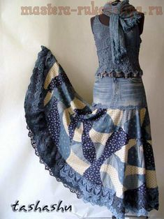 old denim jeans repurpose -- REALLLLY like this outfit....will have to try...
