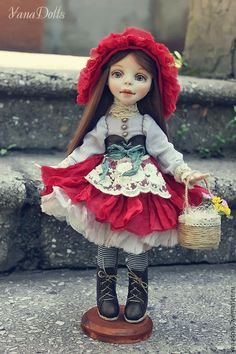 Коллекционные куклы ручной работы. Заказать Красная Шапочка. YanaDolls. Ярмарка Мастеров. Красная шапочка, сказочный…