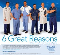 How to create the perfect group shot of six doctors.  Healthcare photography.
