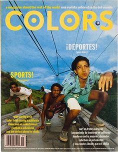 """cMag445 - Colors Magazine cover """"Sports"""" by Tibor Kalman / Nº 11 / March 1995"""