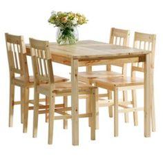 Stół + 4 krzesła TYLSTRUP jasny