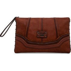 4b2768e19d Guess Chelsea Over Size Clutch Coffee