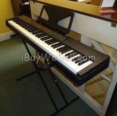 Yamaha P80 Electric Piano for sale., piano stool, hard case.