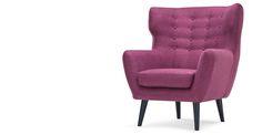 X1 - Kubrick Wing Back Chair in plum purple | made.com