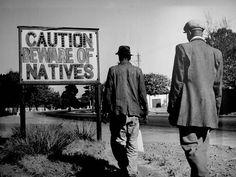 An Apartheid era placard South Africa circa 1957