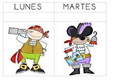 Resultat d'imatges de educación infantil dias semana