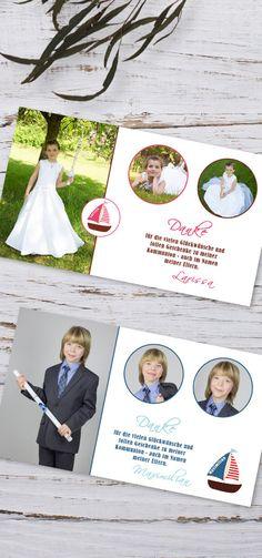 #Danksagungen #Erstkommunion #Danksagungskarten #Kommunion #Firmung #Jugendweihe #Dankeskarten