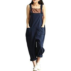 100% Brand New and High Quality! Hot sexy Overalls, wears comfortable, Good elasticity size(Unit:inch) Tag S=US 6 Waist:39.4; Hip:45.6; Length: 33.8; Tag M=US 8 Waist: 40.9 Hip: 47.2; Length: 34.2; Tag L=US 10 Waist: 42.5 Hip:48.8 ;Length: 34.6; Tag XL=US 12 Waist: 44 Hip: 50.3;Length: 35; Tag... http://darrenblogs.com/us/2017/11/30/caing-women-large-plus-size-baggy-linen-overalls-casual-wide-leg-pants-sleeveless-rompers-jumpsuit-vintage-haren-pants/
