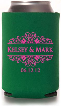 Check out this from: Totallyweddingkoozies.com