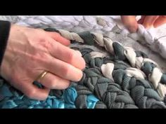 How To Sew A Circle Rug From Fabric Rope - DIY Home Tutorial - Guidecentral - YouTube
