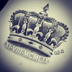 queen crown drawing tattoo - Google Search