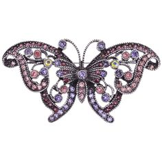 Purple Butterfly Brooch | Past Times £12.50 #Victorian #Gifts