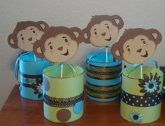 baby shower monkey decorations