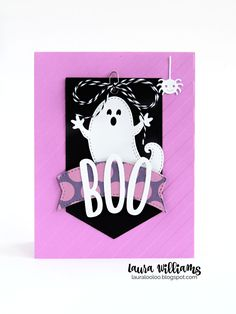 121-E Impression Obsession GHOSTS Halloween Die -