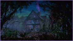 The Sanderson Sister's house from the movie Hocus Pocus.