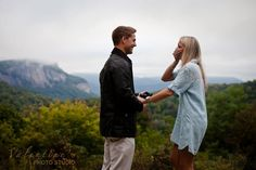 Surprise Engagement at Big Bear Pen Highlands NC