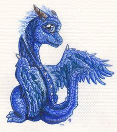 Saphira the Baby Blue Dragon