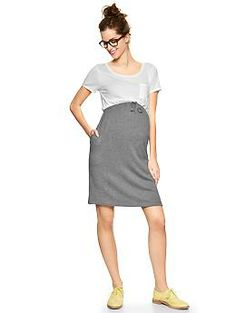 Pocket T fleece Maternity dress | Gap