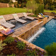21 Best Swimming Pool Designs [Beautiful, Cool, and Modern] Landscaping swimming pool design ideas. That's 21 really lovely swimming pool design. How do you think about all the above swimming pool styles? Hope you find a lot of inspiration right here. Backyard Pool Designs, Backyard Landscaping, Backyard Patio, Landscaping Ideas, Backyard With Pool, Infinity Pool Backyard, Sloped Backyard, Backyard Ideas, Swimming Pools Backyard
