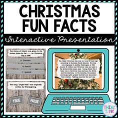 Christmas Fun Facts Interactive Google Slides™ Presentation | Distance Learning
