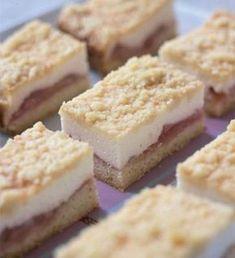 Raikkaat raparperileivokset Baking Recipes, Cake Recipes, Rhubarb Recipes, Sweet Pastries, Pastel, No Bake Desserts, Diy Food, No Bake Cake, Sweet Recipes