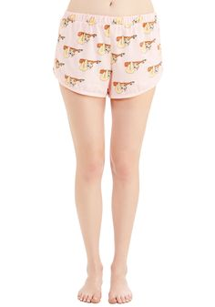 Nothin' But a Zzz Thang Sleep Shorts. Flaunt trendsetting style even when youre just hangin out at home in these quirky, pale pink shorts from Mink Pink. #pink #modcloth