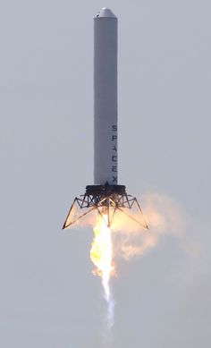 SpaceX Grasshopper.  Can you spot the 6ft dummy onboard?