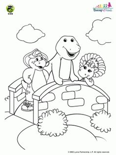 Free Barney_45 coloring page | Ideas for the House | Pinterest ...