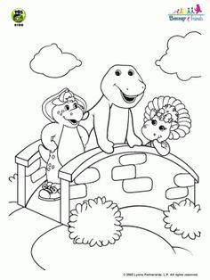 Barney und seine freunde malvorlagen | Ausmalbilder/coloring pages ...