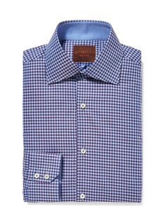 Gingham Cotton Dress Shirt by GEMELLI at Gilt www.GemelliShop.com