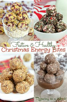 8 Christmas Energy Bites recipes- the BEST Clean Eating Christmas Desserts for a festive holiday season. These Healthy Holiday Snacks are great for kids or adults. Flavors like Gingerbread, Nutella… More
