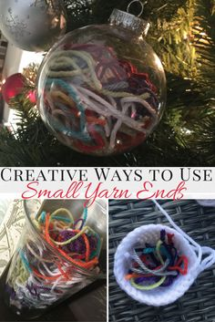 Creative Ways to Use Yarn Ends (Instead of Tossing Them Out) http://hearthookhome.com/ways-to-use-yarn-ends-instead-of-tossing-them-out/?utm_campaign=coschedule&utm_source=pinterest&utm_medium=Ashlea%20K%20-%20Heart%2C%20Hook%2C%20Home&utm_content=Creative%20Ways%20to%20Use%20Yarn%20Ends%20%28Instead%20of%20Tossing%20Them%20Out%29